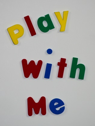 Creative Kids Fun Figures spelling play with me on a whiteboard