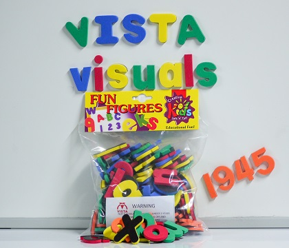 Vista Fun Figures magnetic alphabet