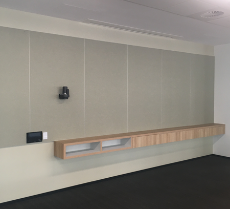 Photo of Echopanel wall covering with trim