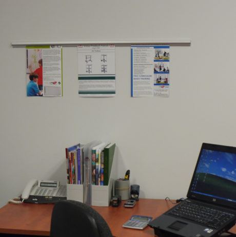 Photo of Vista Hang Up on office wall.