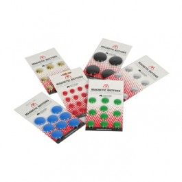 Image of Vista Magnetic Coloured Buttons for whiteboards or fridges.
