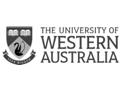University of Western Australia logo greyscale