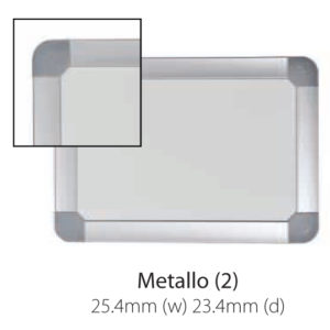 Vista Australian Made Metallo Trim Whiteboard with rounded corners.