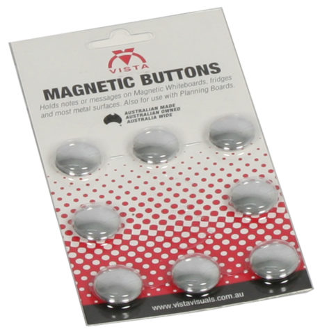 image of Vista silver magnetic buttons