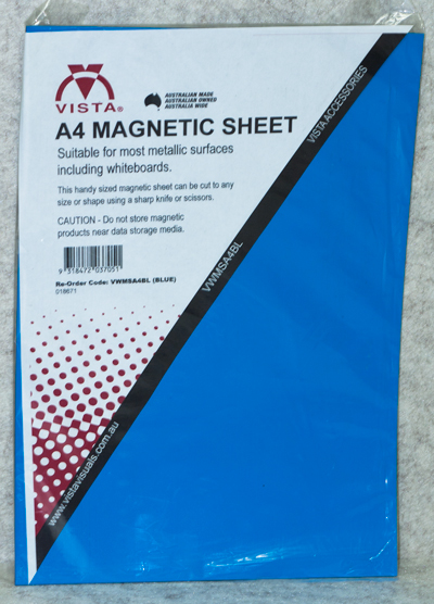 photo of Vista Magnetic Sheet A4 Blue in packaging